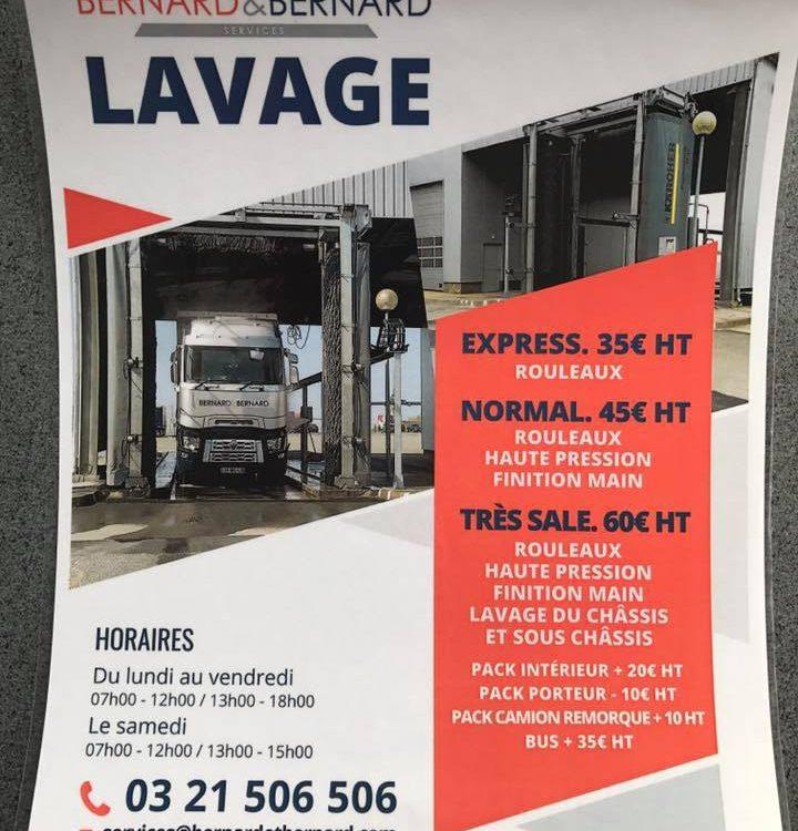Lavage poids lourd tarifs / Truckwash pricelist